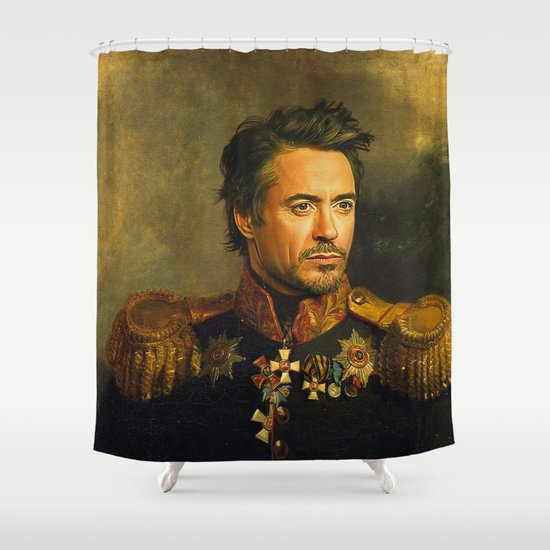Robert Downey Jr. - replaceface Shower Curtain