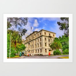 Melbourne Australia Commonwealth Parliamentary Offices Palms Street Houses Cities palm trees Building Art Print