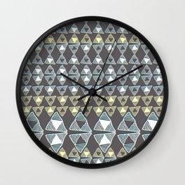 Ethnic Ornament / Canarys Curtain Wall Clock