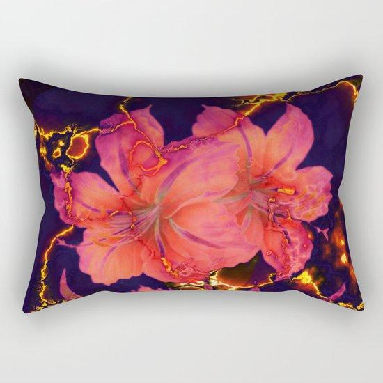 luminous amaryllis Rectangular Pillow