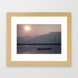 Sunset at Mekong Framed Art Print