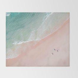 Surf Yoga II Throw Blanket