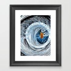 Gold in Blue Framed Art Print