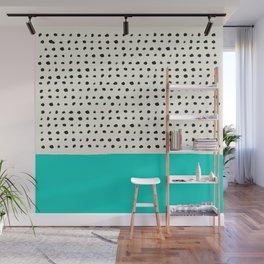 Aqua x Dots Wall Mural