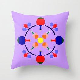 Table Tennis Design Throw Pillow