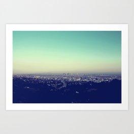 Above Los Angeles Art Print