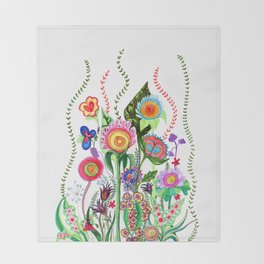FLOWERS IN MEXICO Throw Blanket