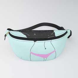 Girl Dressing Up - illustration Fanny Pack