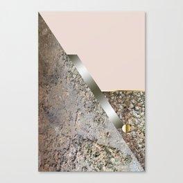 Rose Green Stone Cubism Canvas Print