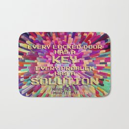 Every locked door has a key. Every problem has a solution. Warcross Bath Mat