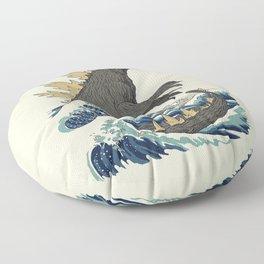 The Great Monster Off Kanagawa Floor Pillow