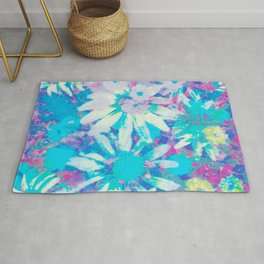 far out! floral tie dye Rug