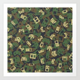 Gamer Camo WOODLAND Art Print