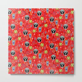 DAY OF THE DEAD - RED Metal Print
