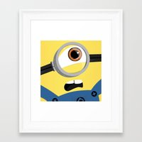minion Framed Art Prints featuring Minion by Janice Wong