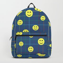 Colorful Smiley Emoji 5 - dark blue Backpack