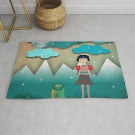 The girl and the owl Rug