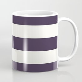 summer beach coastal nautical french fashion navy blue stripes Coffee Mug