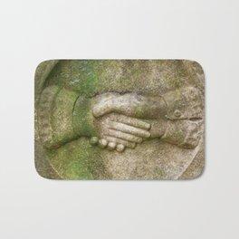 Tombstone Handshake Bath Mat