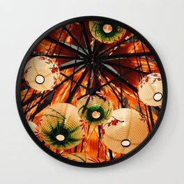 Japanese Paper Lanterns Wall Clock