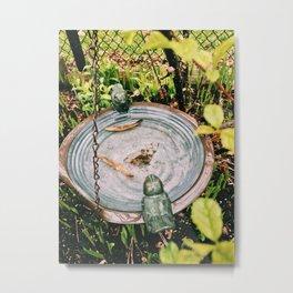 Empty bird plate Metal Print