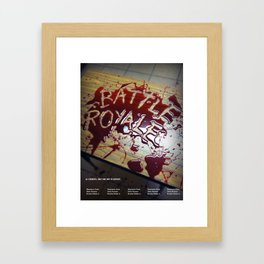 Battle Royale - Japanese film poster Framed Art Print
