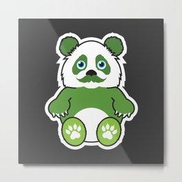 Tufu Panda Metal Print