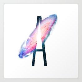 Galaxy Alphabet A Art Print