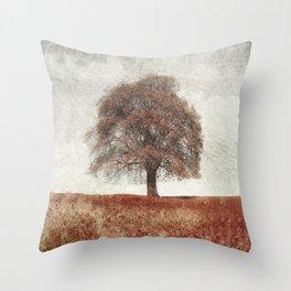 sorbus in autumn Throw Pillow