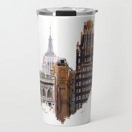 Empire State and Radiator Buildings Travel Mug