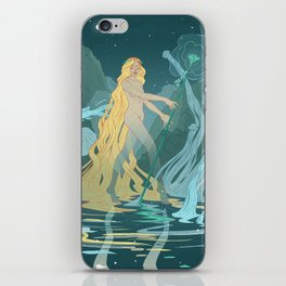 Nymph of the river iPhone Skin