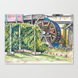 Wind Rose Mill Water Wheel Canvas Print