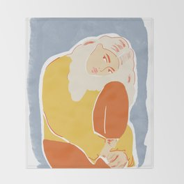 Feeling Blue Throw Blanket