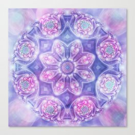Daydream Mandala in Purple, Blue and Pink Canvas Print