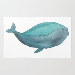 Just a friendly whale Rug