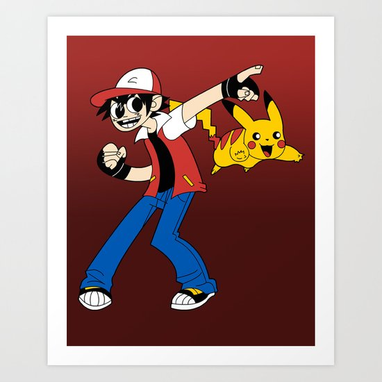 Ash VS the World Art Print