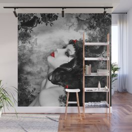 Black Rose Fantasy Wall Mural