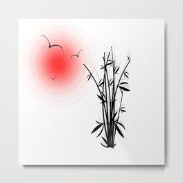 Bambus im Morgenrot Metal Print