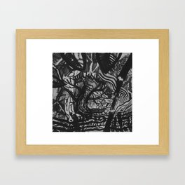 Tree/Fence Framed Art Print