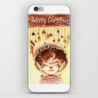 elf iPhone & iPod Skins featuring Elf by Sarah Dousse