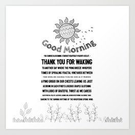 Good Morning You Art Print