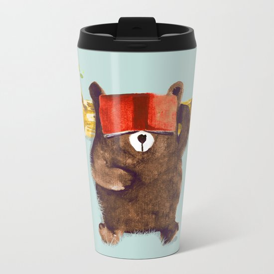 No Care Bear - My Sleepy Pet Metal Travel Mug