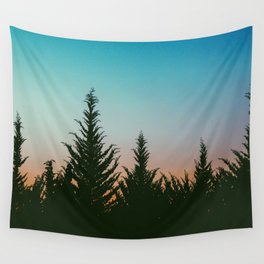 TREES - SUNSET - SUNRISE - SKY - COLOR - FOREST - PHOTOGRAPHY Wall Tapestry