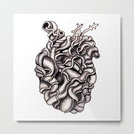 Strangled Heart Metal Print