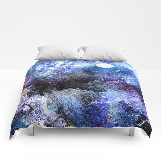 Winter Night Orchard Comforters