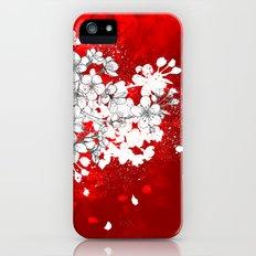 Red skies and white sakuras iPhone (5, 5s) Slim Case