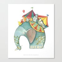 dumbo Canvas Prints featuring Dumbo  by One Golden Sun