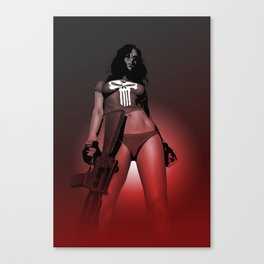 Lady Punisher Canvas Print