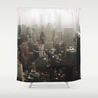 nyc Shower Curtains featuring NYC by Z.T.