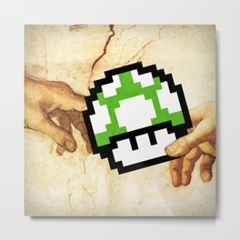 8 bit creation Metal Print